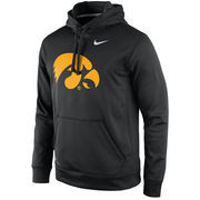 Men's Nike Black Iowa Hawkeyes Practice Performance Hoodie