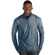 Men's Antigua Navy Marquette Golden Eagles Tempo 1/2-Zip Desert Dry Pullover Jacket