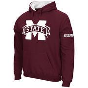 Men's Stadium Athletic Maroon Mississippi State Bulldogs Big Logo Pullover Hoodie