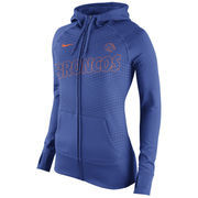 Women's Nike Royal Boise State Broncos Stadium Game Day KO Full Zip Therma-FIT Hoodie