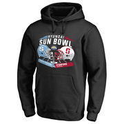 Men's Fanatics Branded Black North Carolina Tar Heels vs. Stanford Cardinal 2016 Sun Bowl Motion Matchup Pullover Hoodie