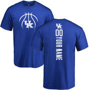 Men's Royal Kentucky Wildcats Basketball Personalized Backer T-Shirt