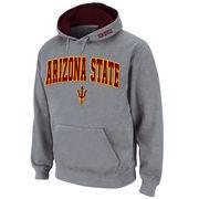 Men's Stadium Athletic Gray Arizona State Sun Devils Arch & Logo Pullover Hoodie