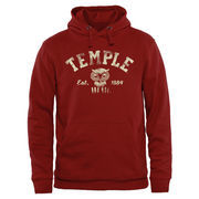 Men's Cherry Temple Owl Originals Arch & Owl Pullover Hoodie