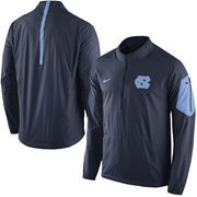 Men's Nike Navy North Carolina Tar Heels 2015 Football Coaches Sideline Half-Zip Wind Jacket