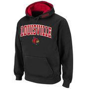 Men's Stadium Athletic Black Louisville Cardinals Arch & Logo Pullover Hoodie