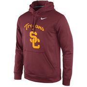 Men's Nike Cardinal USC Trojans 2015 Practice Therma-FIT Performance Hoodie
