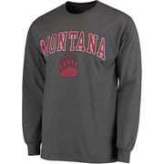 Men's Fanatics Branded Charcoal Montana Grizzlies Campus Long Sleeve T-Shirt