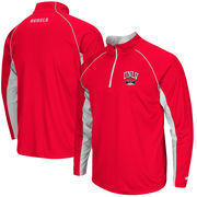 Men's Colosseum Red UNLV Rebels Lineman 1/4 Zip Jacket