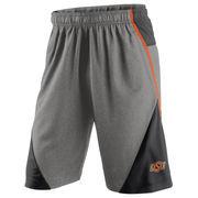 Men's Nike Heathered Gray/Black Oklahoma State Cowboys Fly XL 4.0 Shorts