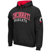 Men's Stadium Athletic Black Cincinnati Bearcats Double Arches Pullover Hoodie