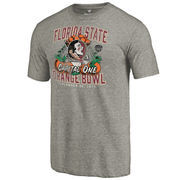 Men's Fanatics Branded Heather Gray Florida State Seminoles 2016 Orange Bowl Bound Prime Tri-Blend T-Shirt