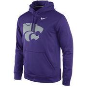 Men's Nike Purple Kansas State Wildcats Practice Performance Hoodie
