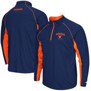 Men's Colosseum Navy Virginia Cavaliers Lineman 1/4 Zip Jacket