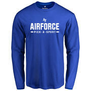 Men's Royal Air Force Falcons Custom Sport Long Sleeve T-Shirt