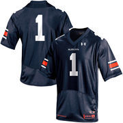 Men's Under Armour Navy No. 1 Auburn Tigers Replica Football Performance Jersey
