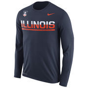 Men's Nike Navy Illinois Fighting Illini 2016 Staff Sideline Legend Dri-FIT Long Sleeve T-Shirt