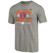 Men's Fanatics Branded Gray Clemson Tigers College Football Playoff 2016 National Champions Screen Pass Tri-Blend T-Shirt