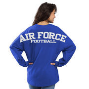 Women's Royal Air Force Falcons Football Sweeper Long Sleeve Oversized Top