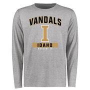 Men's Ash Idaho Vandals Campus Icon Long Sleeve T-Shirt