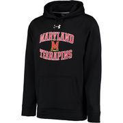 Men's Under Armour Black Maryland Terrapins MVP Logo Pullover Hoodie