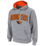 Men's Stadium Athletic Gray Oregon State Beavers Arch & Logo Pullover Hoodie