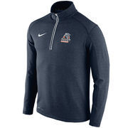 Men's Nike Navy UTEP Miners Football Coaches Sideline Half-Zip Tri-Blend Performance Knit Top