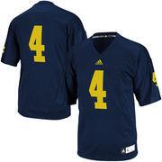 Men's adidas Navy Michigan Wolverines #4 Premier Football Jersey