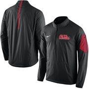 Men's Nike Black Ole Miss Rebels 2015 Football Coaches Sideline Half-Zip Wind Jacket