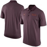 Men's Nike Maroon Virginia Tech Hokies Stadium Stripe Performance Polo