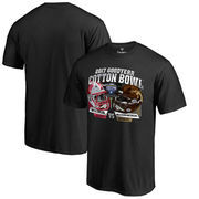 Men's Fanatics Branded Black Western Michigan Broncos vs. Wisconsin Badgers 2017 Cotton Bowl Dueling T-Shirt