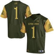 Men's Under Armour #1 Green Notre Dame Fighting Irish 2016 Shamrock Series Authentic Football Jersey