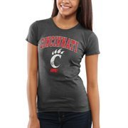 Cincinnati Bearcats Women's Big Arch & Logo T-Shirt - Black