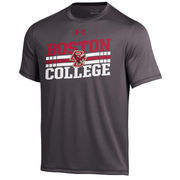 Men's Boston College Eagles Under Armour Charcoal Slant Performance T-Shirt
