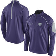 Men's Nike Purple Kansas State Wildcats 2015 Coaches Sideline Alpha Fly Rush 1/4 Zip Performance Jacket