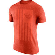 Men's Nike Heathered Scarlet Ohio State Buckeyes Cross-Dye Nation Tri-Blend T-Shirt