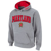 Men's Stadium Athletic Gray Maryland Terrapins Arch & Logo Pullover Hoodie