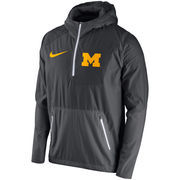 Men's Nike Anthracite Michigan Wolverines 2016 Sideline Vapor Fly Rush Half-Zip Pullover Jacket