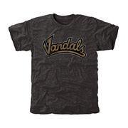 Men's Black Idaho Vandals Classic Wordmark Tri-Blend T-Shirt
