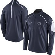 Men's Nike Navy Penn State Nittany Lions 2015 Football Coaches Sideline Quarter-Zip Performance Jacket