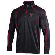 Men's Under Armour Black Texas Tech Red Raiders Contrast Stitch 1/4-Zip Jacket