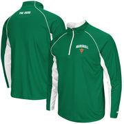Men's Colosseum Kelly Green Marshall Thundering Herd Lineman 1/4 Zip Jacket