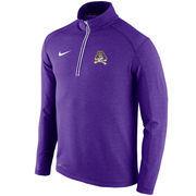 Men's Nike Purple East Carolina Pirates Football Coaches Sideline Half-Zip Tri-Blend Performance Knit Top