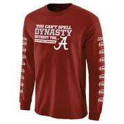 Men's Crimson Alabama Crimson Tide College Football Playoff 2015 National Champions Dynasty Long Sleeve T-Shirt