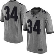 Men's Nike Heather Gray Georgia Bulldogs Gridiron Gray Limited Football Jersey