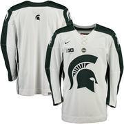 Men's Nike White/Green Michigan State Spartans NCAA Replica Hockey Jersey