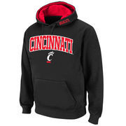 Men's Stadium Athletic Black Cincinnati Bearcats Arch & Logo Pullover Hoodie