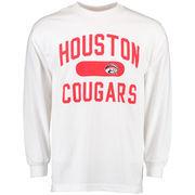 Men's White Houston Cougars Athletic Issued Long Sleeve T-Shirt