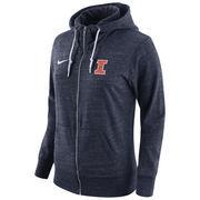 Women's Nike Navy Illinois Fighting Illini Tailgate Gym Vintage Full-Zip Hoodie