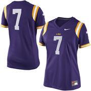 Women's Nike #7 Purple LSU Tigers Game Replica Football Jersey